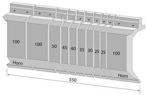 Trumpf Abkantwerkzeug Stempel Teilung 550mm seKtioniert