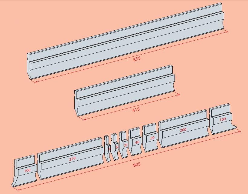 Abkantwerkzeug Amada Sektionierung Oberwerkzeuge
